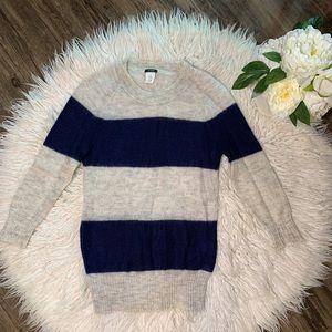 • J Crew Striped Sweater Wool Mohair •